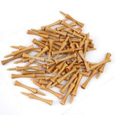 100Pcs Burlywood Professional Wooden Castle Step Top Golf Tees 69mm 2 5/8''