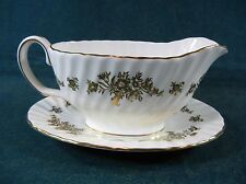 Minton Marlow Gold H5017 Gravy Boat with Separate Underplate
