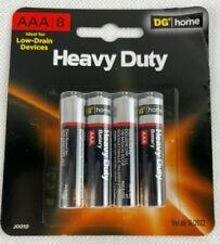 8-Pack Aaa Heavy Duty Batteries 1.5V alkaline box lot battery Use by 11/2022.