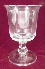 Scalloped Top Spooner Plain Clear Glass EAPG Footed Antique