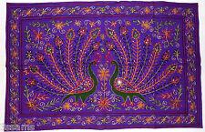 Indian Tapestry Wall Hanging Peacock Mandala Hippie Bohemian Boho Ethnic Rangoli