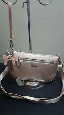 NWT Kipling Happy Rose Gold Metallic Wristlet Crossbody Purse Handbag