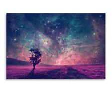Wandbild Künstlerische Fotografie Fantastische Milchstraße mit Baum auf Leinwand