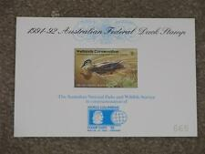 Australia 1991-92 Federal Duck Stamp, #665, Mnh