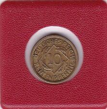 10 Pfennig 1924 F Rentenpfennig Deutsches Reich German Empire
