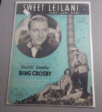 *b Bing Crosby-Waikiki Wedding Movie -Sheet Music- Vintage