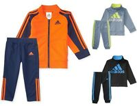 NEW Adidas Baby Boys's 2-Pc Jacket Pants Set Outfit 12M/18M/24M Tracksuit