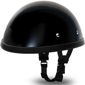 Daytona EZ Rider NOVELTY Shorty Half Helmet Low Profile Gloss Black 2XL