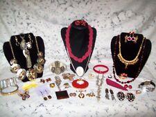 Vintage & Modern Warm Tones Costume Jewelry Lot - Trifari