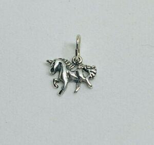 Gorgeous Sparkling Solid Unicorn Pendant 925 solid silver 1.0gram #16032