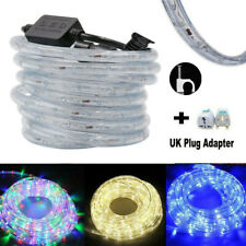 2-50M 220V LED Fairy String Tube Light Strip Rope Lighting Xmas Outdoor+UK Plug