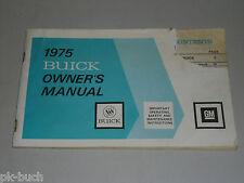 Betriebsanleitung Owner's Manual GM Buick Skyhawk Stand 1975