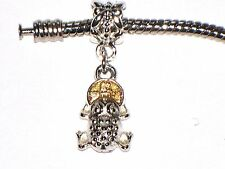 LUCKY FROG WITH COIN CHARM FITS EUROPEAN BRACELETS - BUY 3 GET 1 FREE