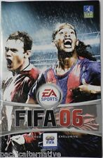 Notice de FIFA 06 sur playstation 2 PS2 football 2006  booklet manual livret