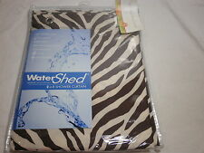 New Park Smith WATERSHED Fabric Shower Curtain ZEBRA ZEBRA - Natural/Coffeebean