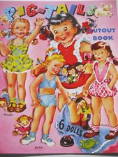 Winsome Pigtails Vintage Reproduction Paper Doll Book