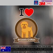 Brussels Griffon Illustration Sticker Style Custom cute Gift  9.6 cm  x 12.8 cm