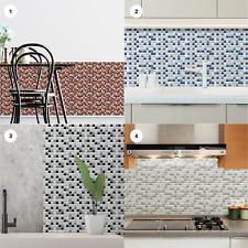 Peel and Stick Tile Sticker Small Square Wall Panel Bathroom Kitchen Backsplash