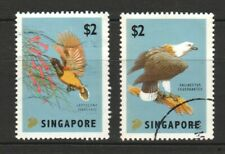 SINGAPORE 2012 WORLD STAMP EXH. 2015 SERIES 1 EAGLE & SUNBIRD SET 2 STAMPS USED