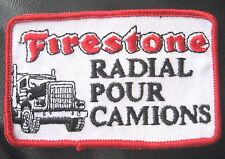 """Firestone Embroidered Patch RADIAL TIRES TRUCK CAMION ADVERTISING 4"""" x 2 1/2"""""""