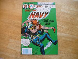"FIGHTIN' NAVY #127 (7.5 VF-)10/83- HIGH GRADE CHARLTON-LOW PRINT RUN ""FILE COPY"""