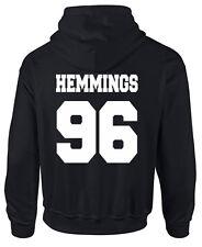 HEMMINGS 96 5 SOS HOODIE SWEAT S - XXL  5SOS NAMES IRWIN HOOD CLIFFORD 94 95