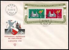 SWITZERLAND SC# 352a MI# BL15 FIRST DAY COVER GERMAN INSCRIPTION