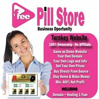 FREE PILL STORE - TURNKEY ECOMMERCE WEBSITE - Ready to make money today