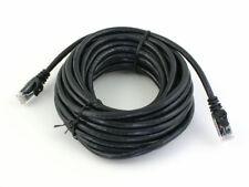 Noir 10 m mètre CAT6 RJ45 Internet Câble Ethernet Lead Extérieur Cordon de raccordement NEUF