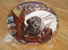 VERY RARE Danbury Mint Lonesome Cowboy DACHSHUND Doxie Limited ED Plate + COA