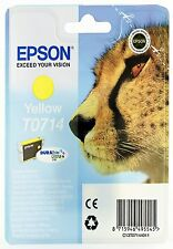 Epson T0714 Yellow Ink Cartridge for Epson Stylus DX7000F DX7400 DX7450 DX8400