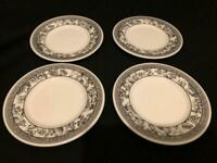 4 x WEDGWOOD FLEUR DAMASK SIDE TEA PLATES 15CMS - UNUSED
