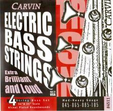 CARVIN 45-105 MEDIUM HEAVY GAUGE BASS STRINGS SET, MADE in USA, NEW