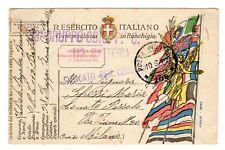 WW1 Posta Militare prima guerra franchigia 38° GRUPPO OBICI 112 BATTERIA PM 108