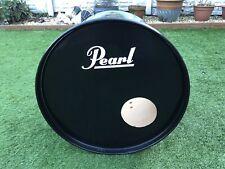 PEARL Bass Drum Decal Logo Sticker White Vinyl