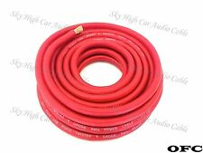 50 ft OFC 4 Gauge AWG RED Power Ground Wire Sky High Car Audio GA ft