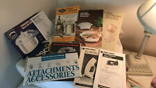Vintage Various Owners Manuals For Small Kitchen Countertop Appliances Free Ship
