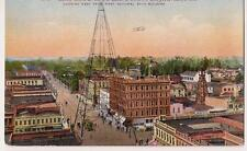 From 1st Nat'l Bank Santa Clara St & Electric Tower SAN JOSE CA 1910s Postcard