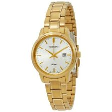 Seiko SUR744P1 Ladies Gold Tone Stainless Steel 50m Date Dress Watch