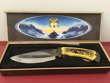 Decorative Hunting Knife, boxed, collectible, vintage, Wolf