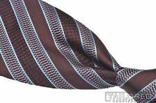 """ERMENEGILDO ZEGNA Recent Burgundy Brown Striped 100% Silk Luxury Tie - 3.75"""""""