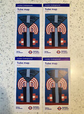 NEW! (4x) - TFL London Underground Tube Map - May 2020 Edition - Current
