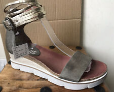 Ladies MJUS 'Tapasita' Leather Ankle Strap Wedge Sandals - Size 5 (38) NEW