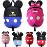 Kids Children Cartoon Mickey Minnie Mouse Backpack Anti-Lost Rucksack School Bag