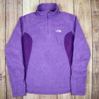 Womens The North Face Polartec Quarter Zip Fleece Jumper Purple Size M Vintage