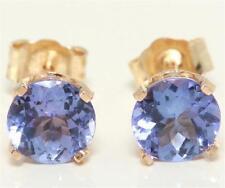 Tanzanite Yellow Gold 14k Fine Earrings