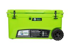 Frosted Frog Green 70 Quart Ice Chest Heavy Duty Insulated Cooler with Wheels