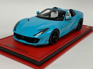 1/18 MR Collection Ferrari 812 GTS Spider Baby Blue Black AB Exclusive Leather
