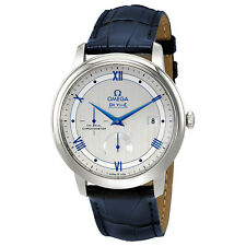 Omega De Ville Automatic Blue Leather Band Mens Watch 424.13.40.21.02.003