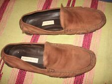 MENS 43 10 10.5 ANTONIO BROWN LEATHER CASUAL LOAFERS DRIVING COMFORT SHOES